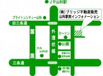 山科駅前インフォメーション地図