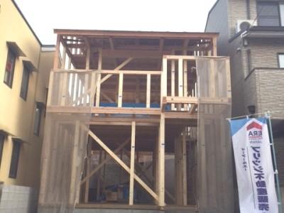 只今建築中!山科区東野八代の新築一戸建