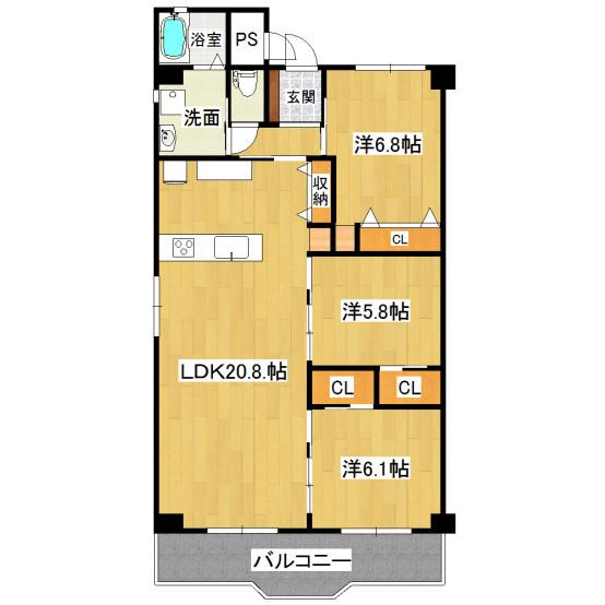 白川高層住宅802号(リアル)